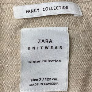 Zara Shirts & Tops - ZARA Knit Cardigan with Ruffled Trim, sz 7